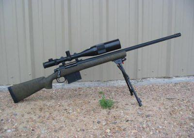 338 Lapua, blueprinted Remington action with HS Precision stock